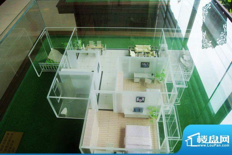 福隆广场三期海福湾G栋二房二厅户型模型