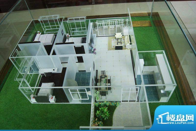 福隆广场三期海福湾G栋三房二厅户型模型