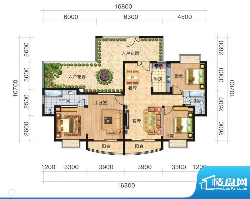 福隆广场三期海福湾面积:146.21平米