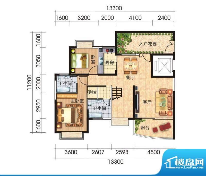 福隆广场三期海福湾面积:230.69平米