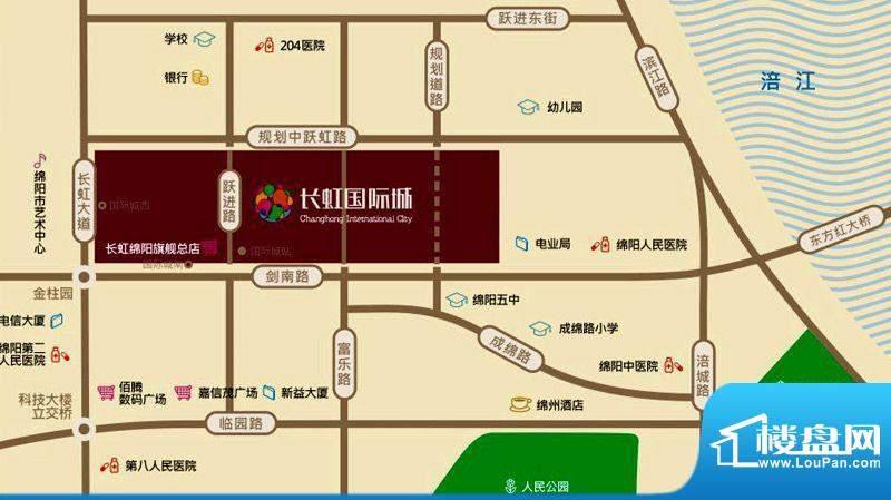 长虹国际城2期交通图