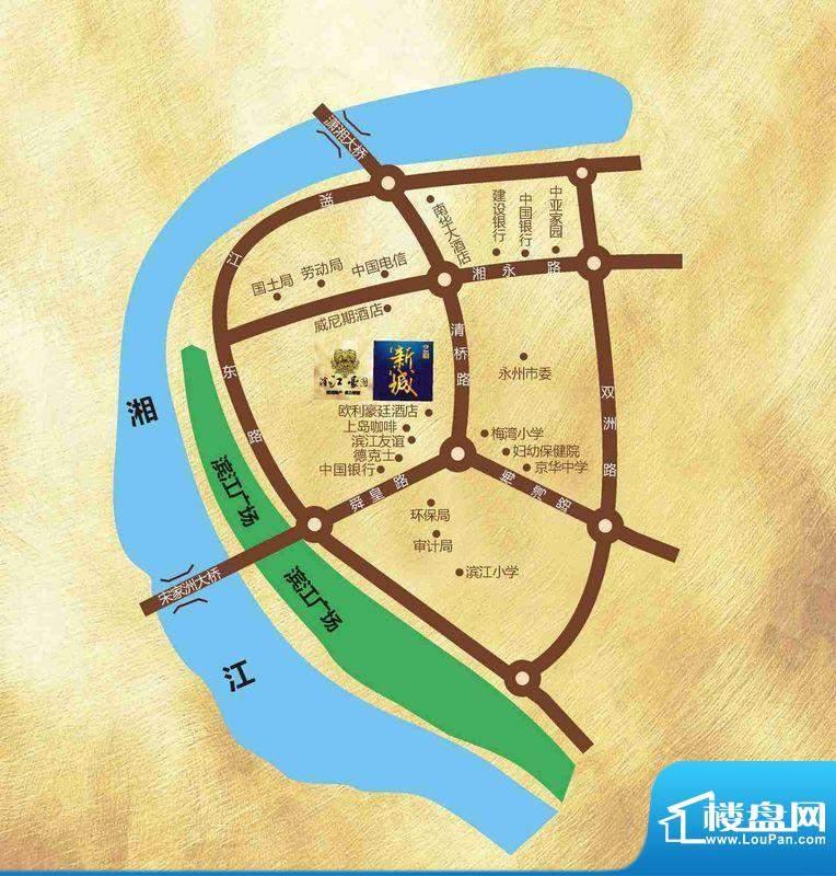滨江豪园·新城交通图