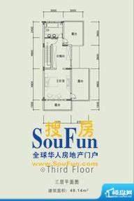 长城中环墅双拼G户型面积:254.87平米