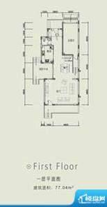 长城中环墅双拼E户型面积:226.91平米