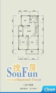长城中环墅双拼F户型面积:252.97平米