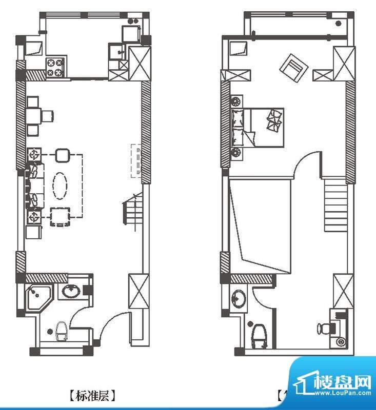 中环城G4户型平面示面积:62.00平米