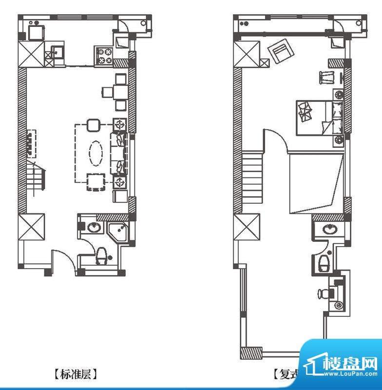 中环城G5户型平面示面积:89.00平米