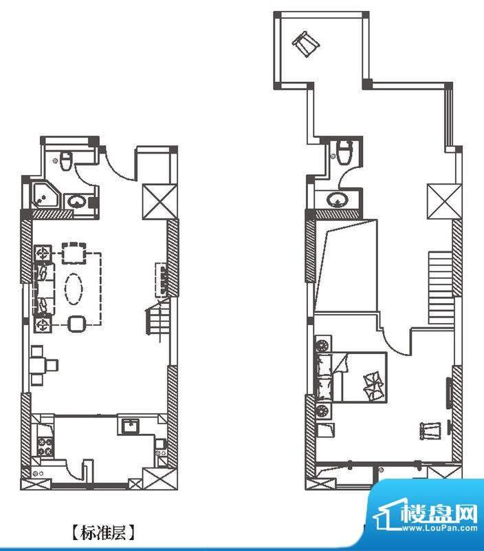 中环城H1户型平面示面积:93.00平米