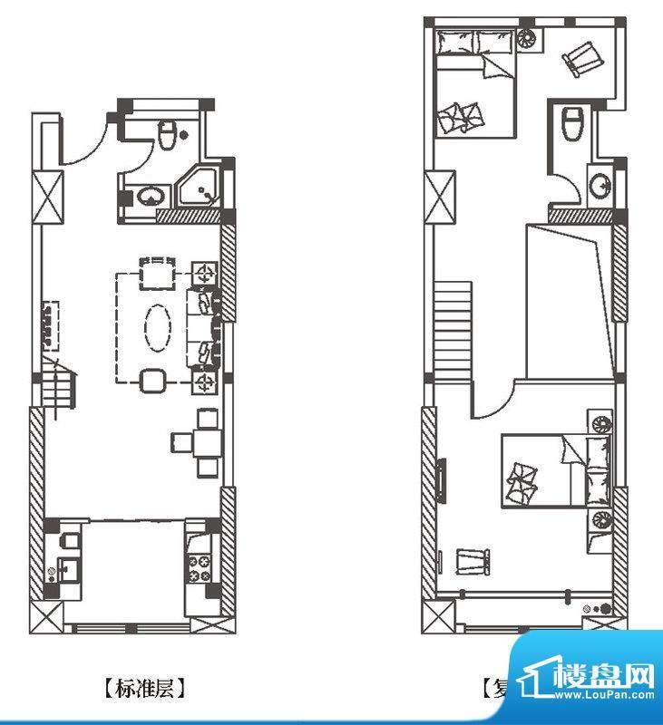 中环城H2户型平面示面积:72.00平米