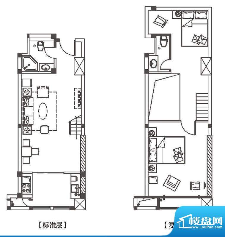 中环城H3-1户型平面面积:72.00平米