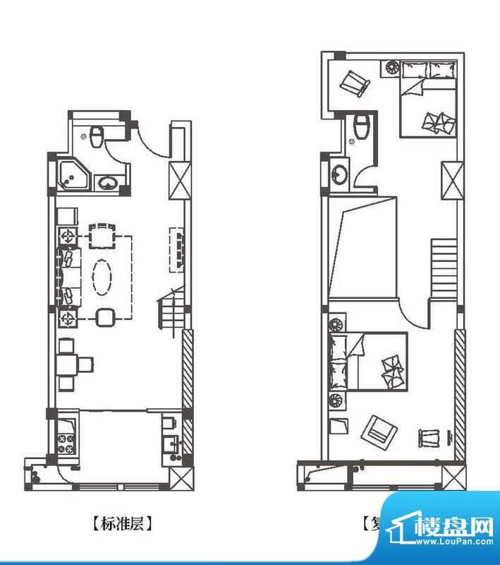 中环城公寓新户型H3面积:72.00平米