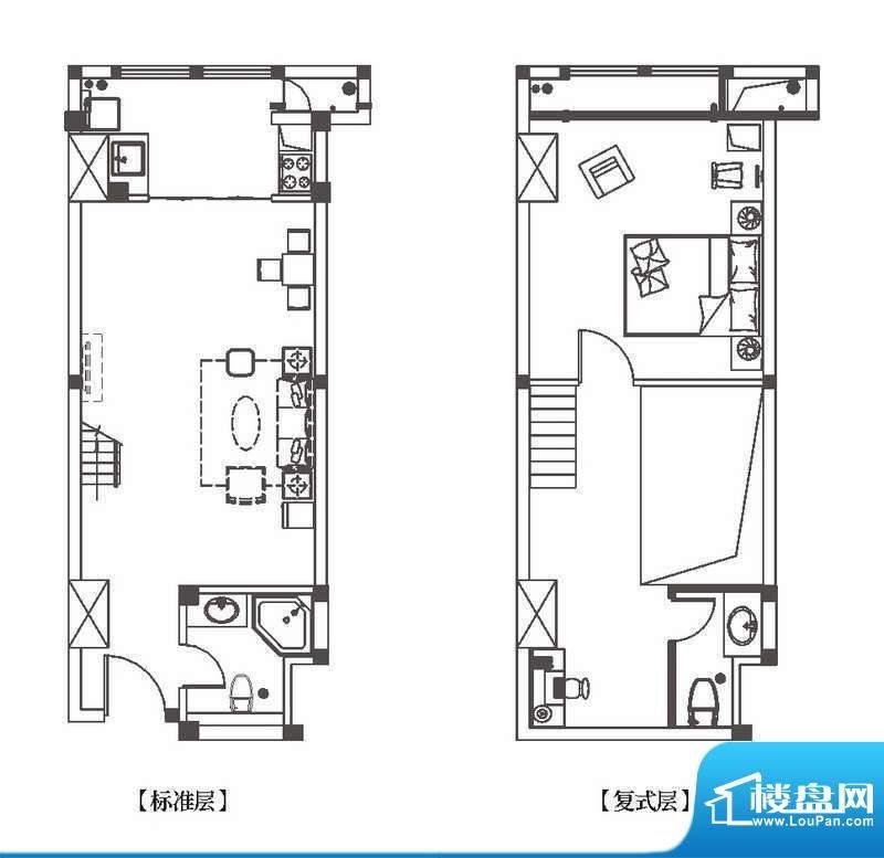 中环城公寓新户型G2面积:63.00平米