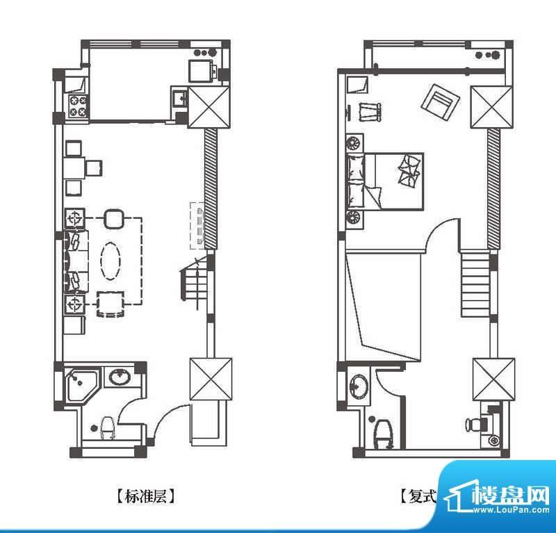 中环城公寓新户型G1面积:64.00平米