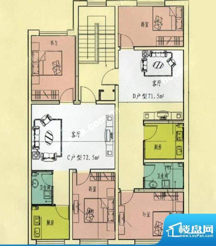 万生泉财富家园CD户面积:72.50m平米