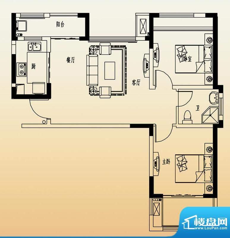 高速滨湖时代广场G3面积:88.00平米