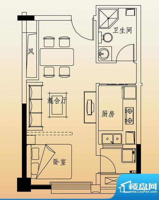 高速滨湖时代广场G6面积:52.00平米