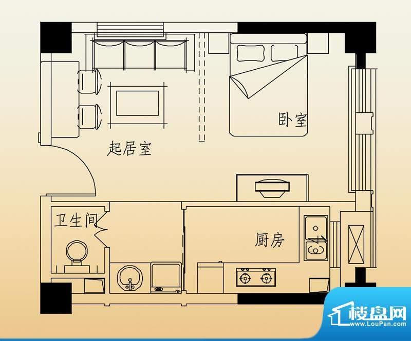 高速滨湖时代广场G6面积:40.00平米