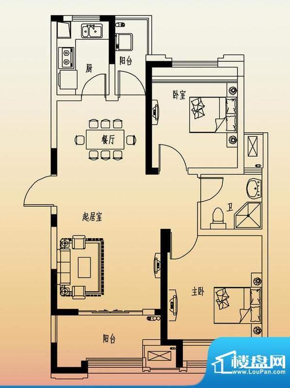 高速滨湖时代广场G3面积:84.00平米