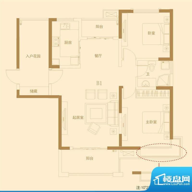 高速滨湖时代广场10面积:105.00平米