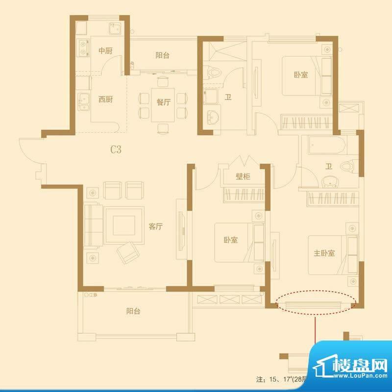 高速滨湖时代广场10面积:137.00平米