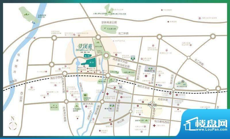 梦溪苑交通图