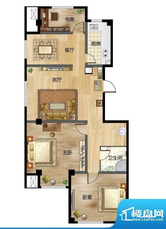 梦溪苑C户型 3室2厅面积:142.89m平米