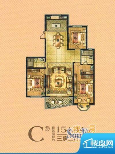 帝景豪庭c 3室2厅2卫面积:154.44m平米