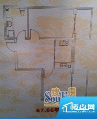 东升苑67.66平方米 面积:67.66m平米