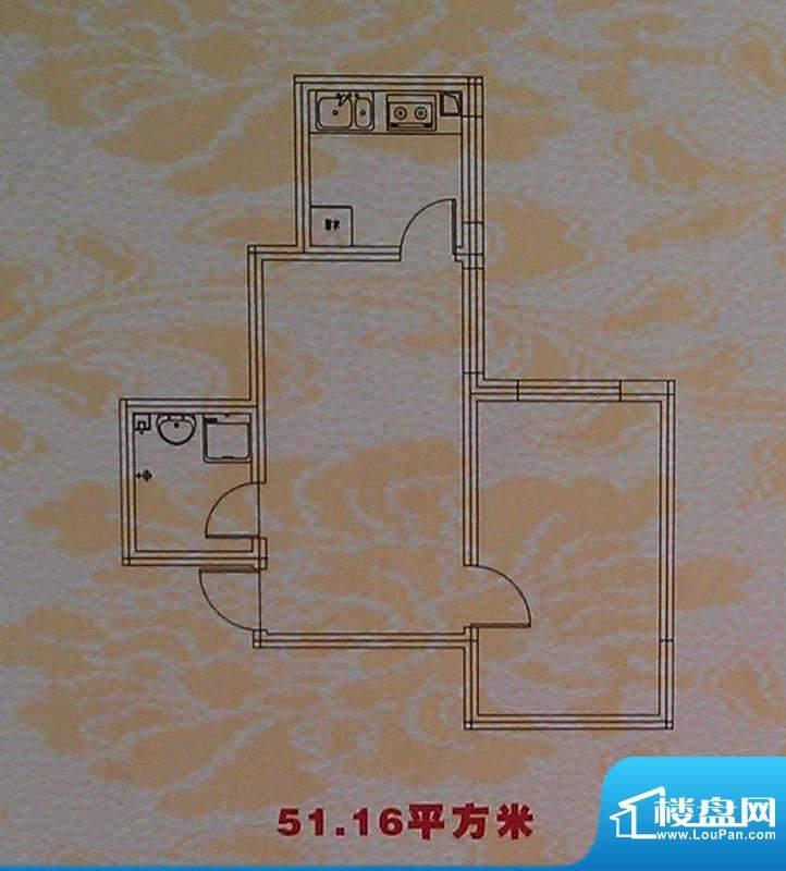 东升苑51.16平方米 面积:51.16m平米