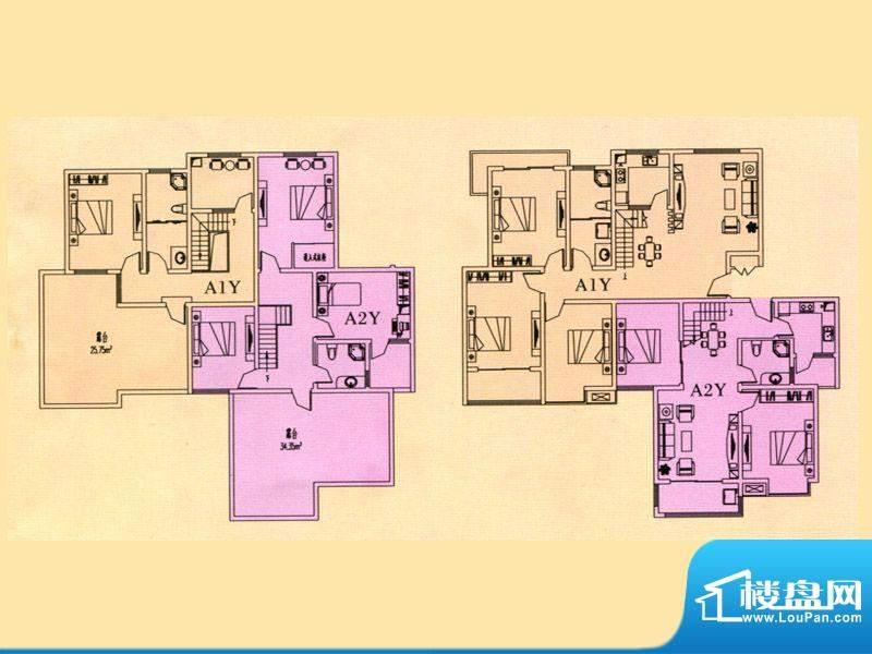 豪迈世纪馨园1、2#楼面积:192.32m平米