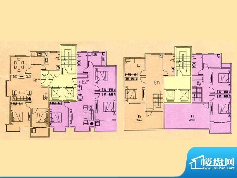 豪迈世纪馨园3#楼B1面积:204.30m平米