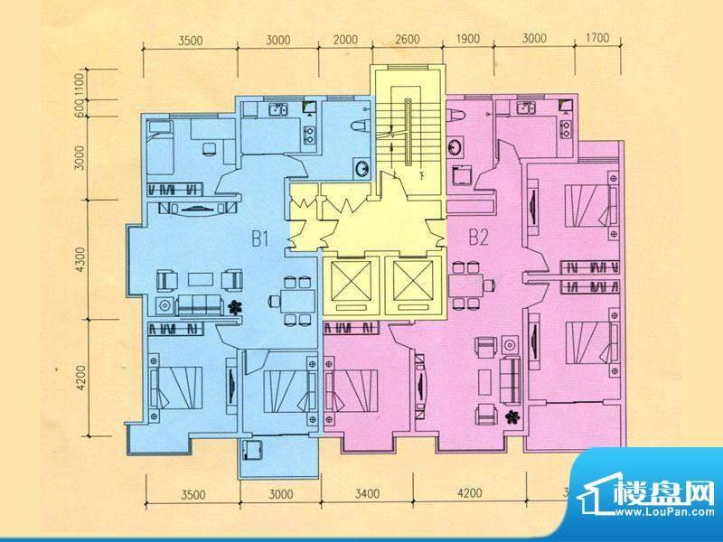 豪迈世纪馨园3#楼B1面积:122.29m平米