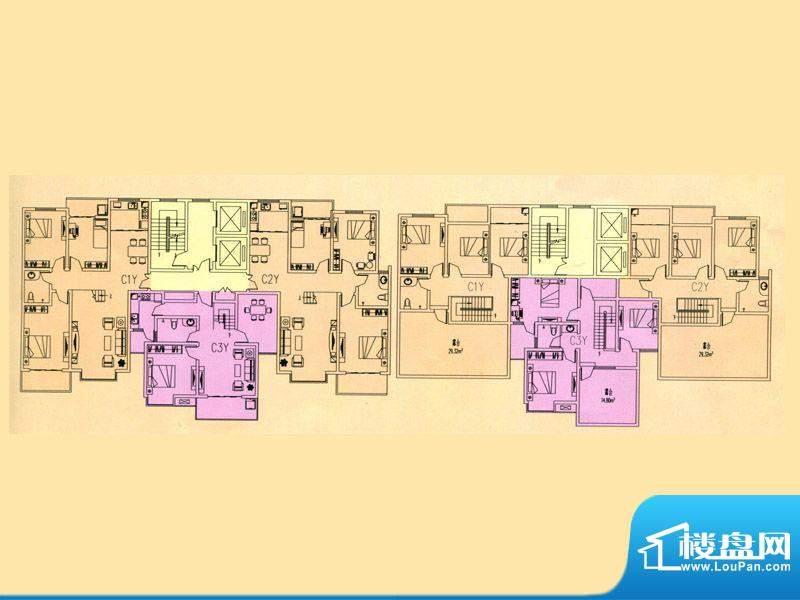 豪迈世纪馨园4#楼C1面积:205.65m平米