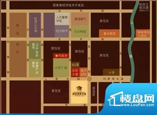 龙城国际花园交通图