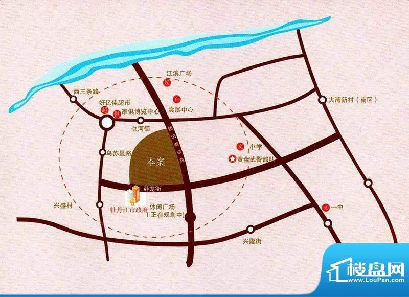 江南帝景交通图