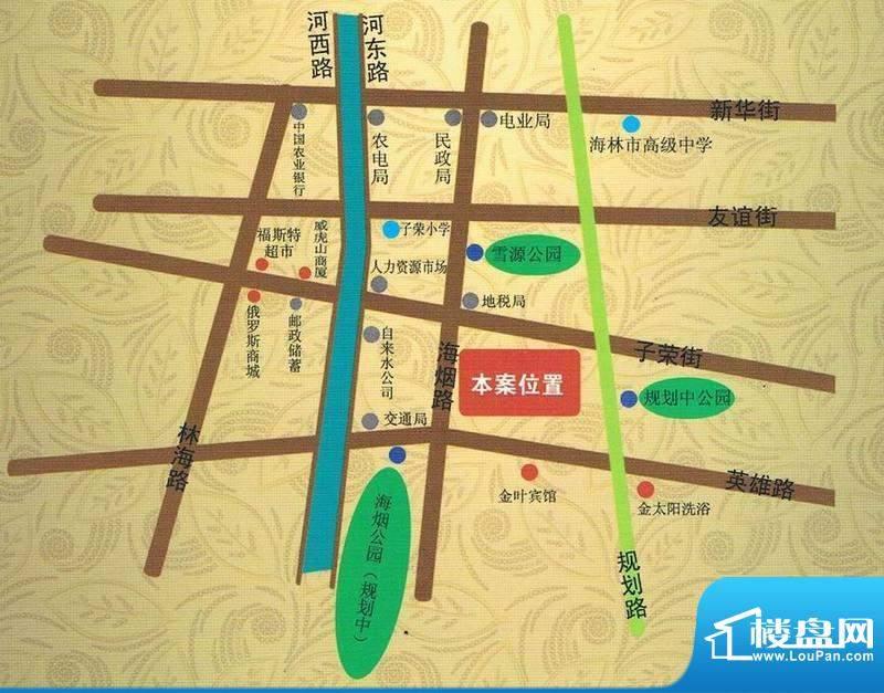 金洲家园交通图