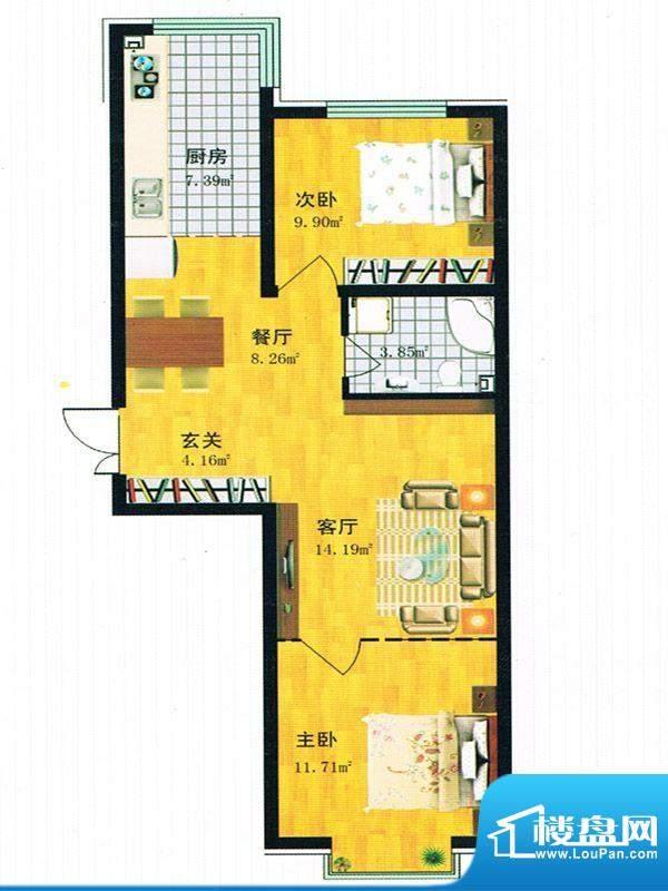 青青学邻 C户型面积:82.00m平米