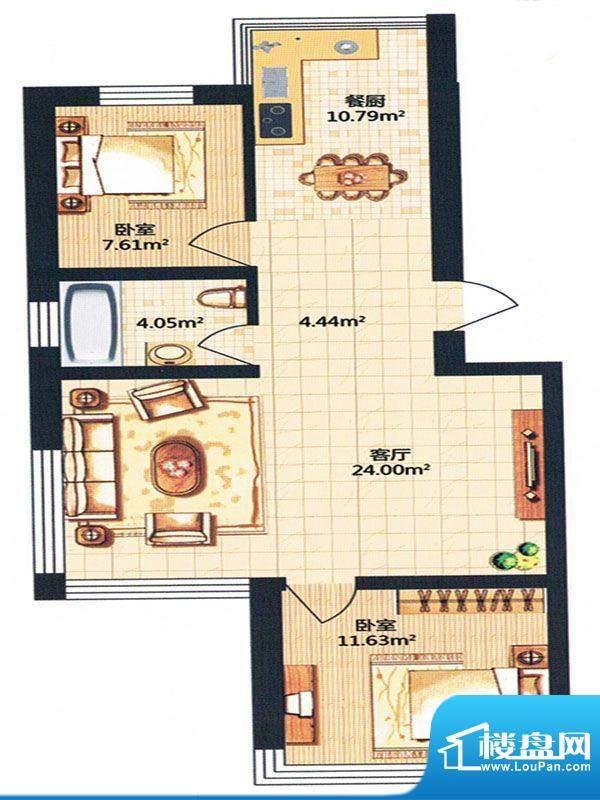 金河湾 52号楼面积:84.20m平米