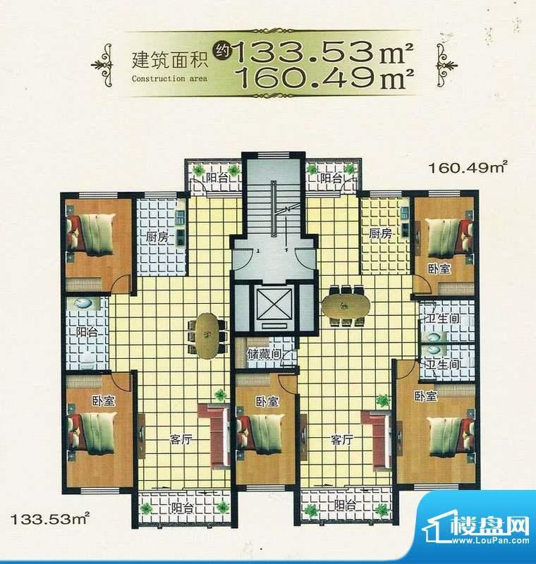 绿洲春城133.53 3室面积:0.00m平米