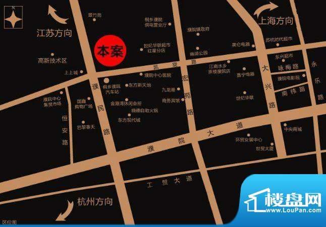 濮院佳源中心广场交通图