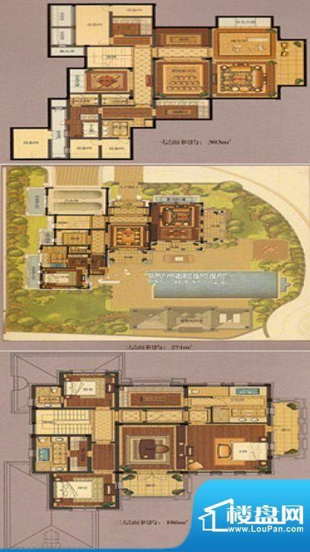 绿城悦庄H户型 6室3面积:760.00m平米