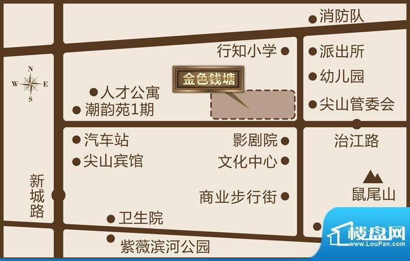 金色钱塘交通图