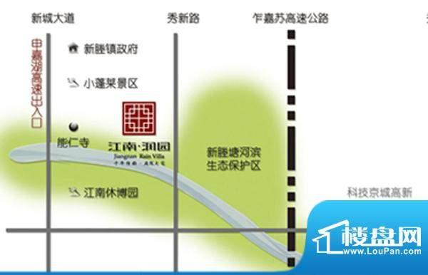 江南润园交通图
