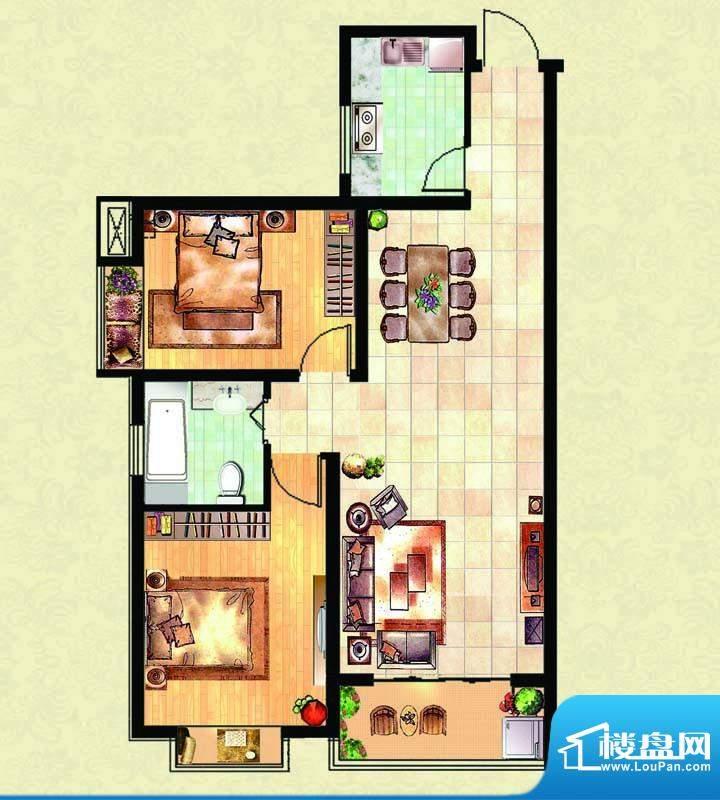 千里壹家园2#楼户型面积:94.90m平米