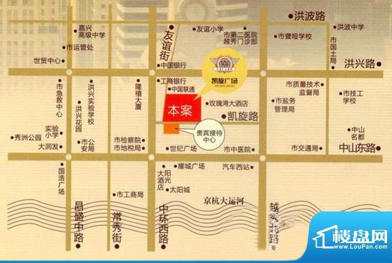 凯旋广场交通图