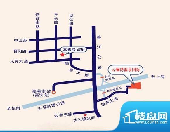 云澜湾交通图