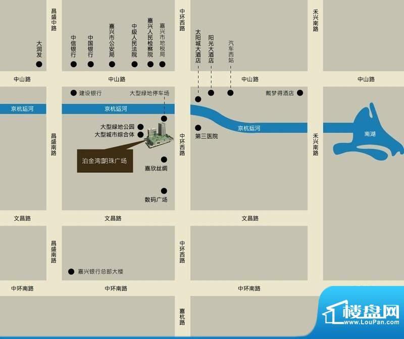 泊金湾明珠广场交通图