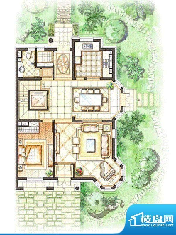 御苑地上一层 2室2厅面积:276.00m平米
