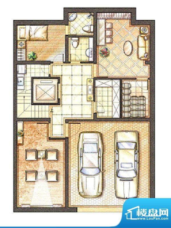 御苑地下一层 2室2厅面积:108.00m平米