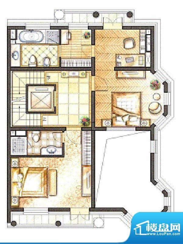 御苑地上二层 2室2卫面积:86.00m平米